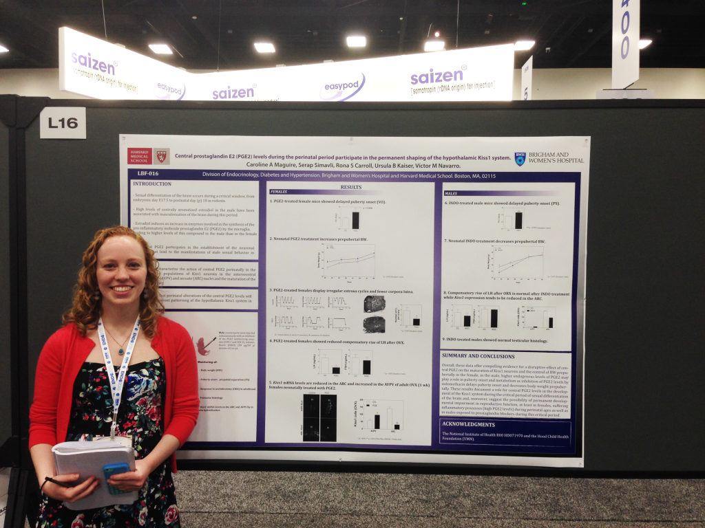 Caroline presenting at the Annual Meeting of The Endocrine Society. San Diego, CA, 2015